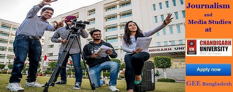 Journalism and Mass Communication studies at Chandigarh University, India