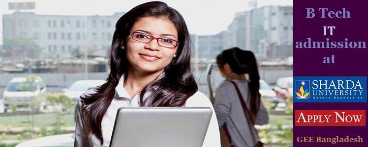 IT admission at Sharda University, India