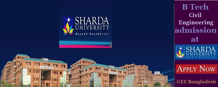 Civil Engineering admission at Sharda University, India