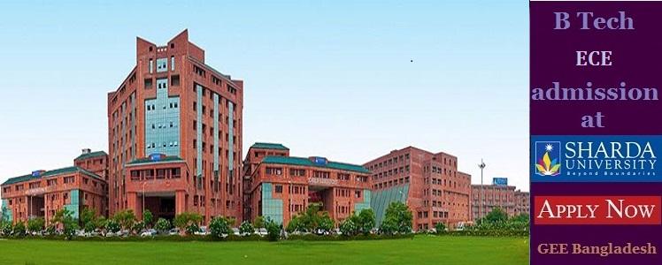 ECE admission at Sharda University, India