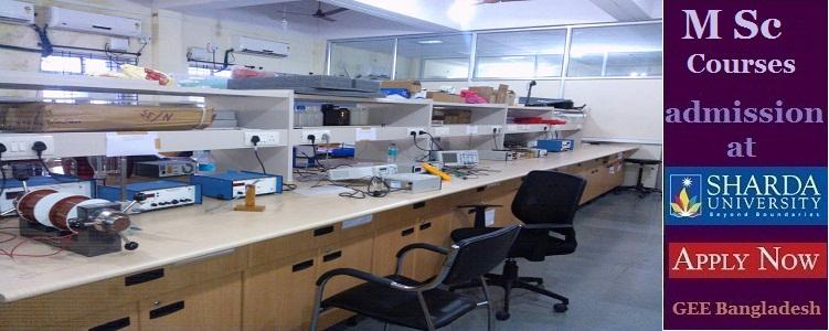M Sc courses admission in India at Sharda University