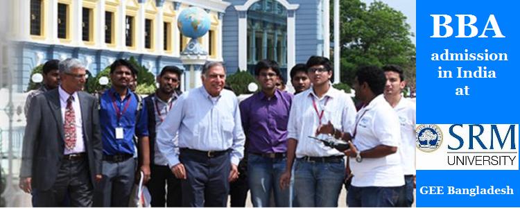 SRM University BBA admission 2016