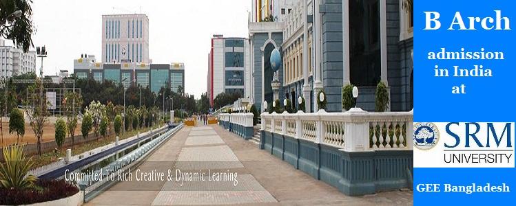 SRM University Bachelor of Architecture admission 2016