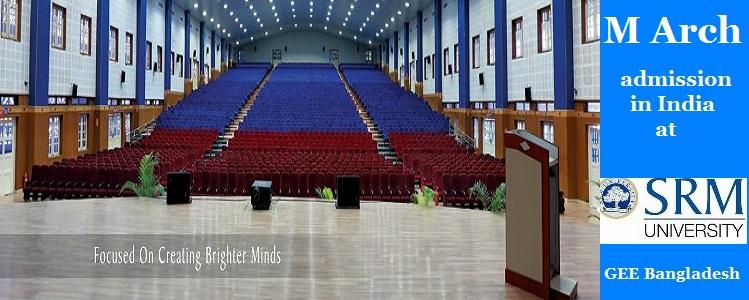 SRM University M Arch Admission 2016