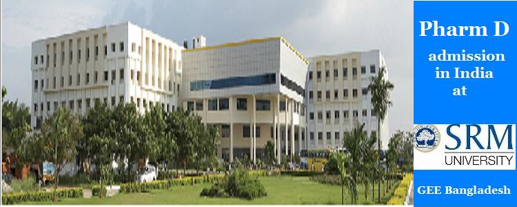 Pharm D admission at SRM University, India