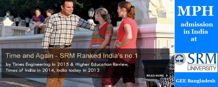 MPH admission in India at SRM University