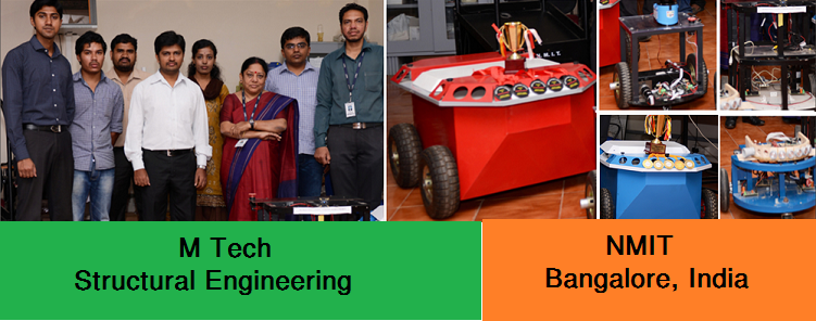 M Tech Structural Engineering admission at NMIT Bangalore