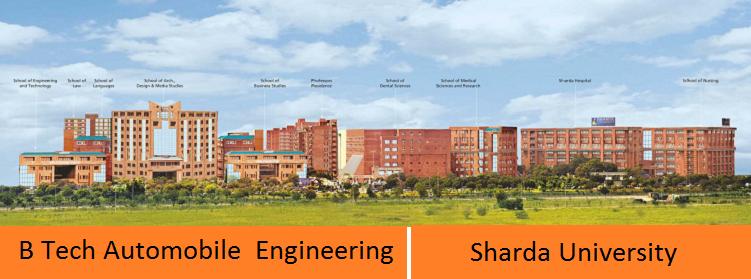 B Tech Automobile engineering admission at Sharda University