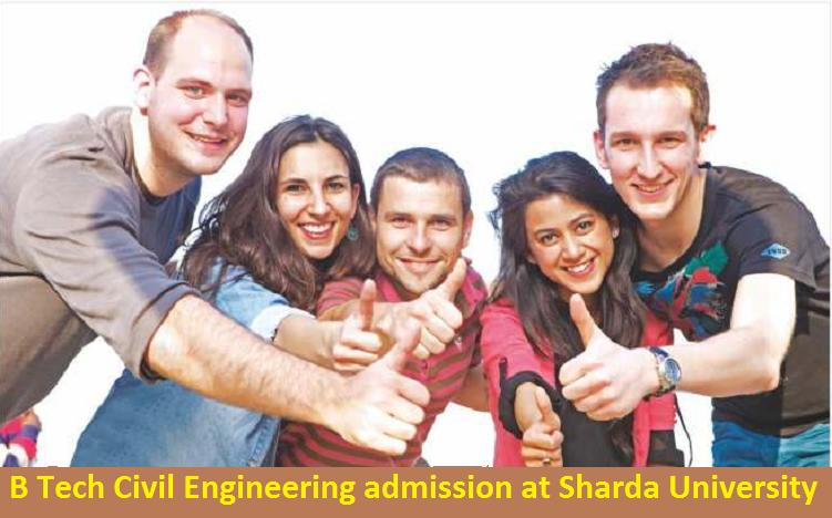 B Tech Civil Engineering admission at Sharda University