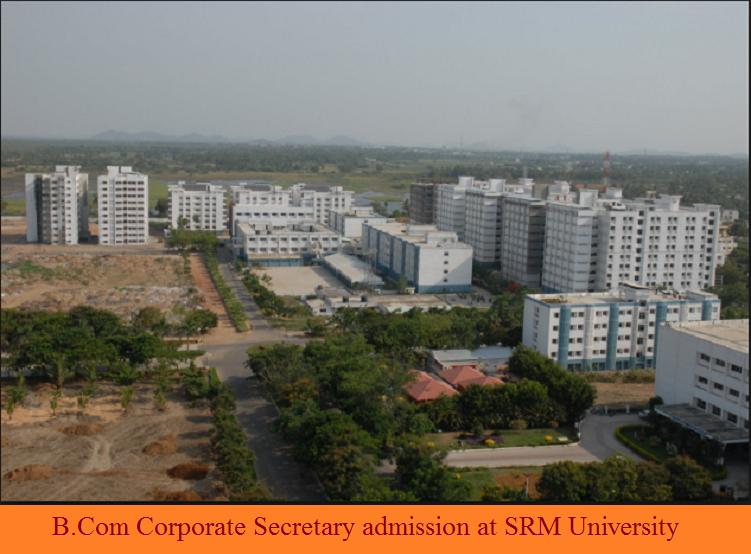 B.Com in Corporate Secretaryship admission at SRM University