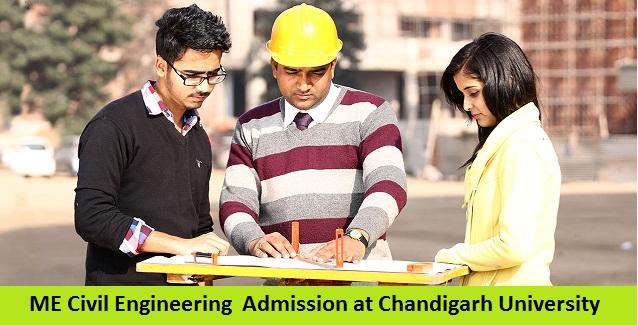 ME Civil Engineering Admission at Chandigarh University