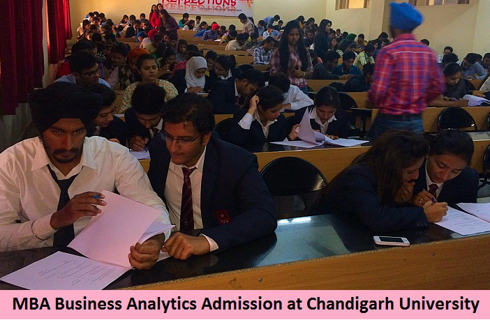 MBA Business Analytics Admission at Chandigarh University