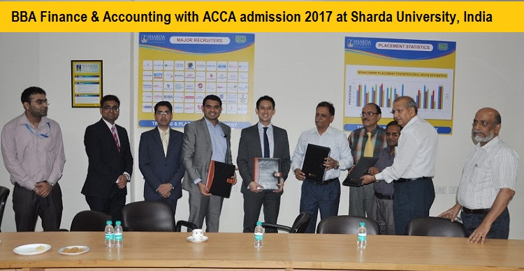 BBA-ACCA admission 2017 at Sharda University, India