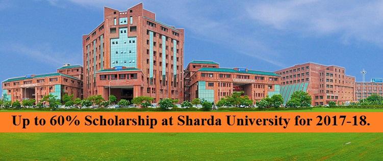 Sharda University announced up to 60 percent Scholarship