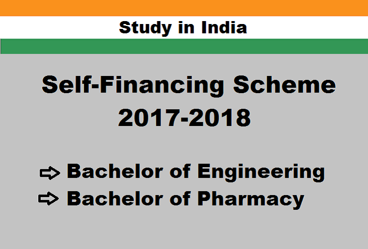 Study in India under Self Finance Scheme 2017-18