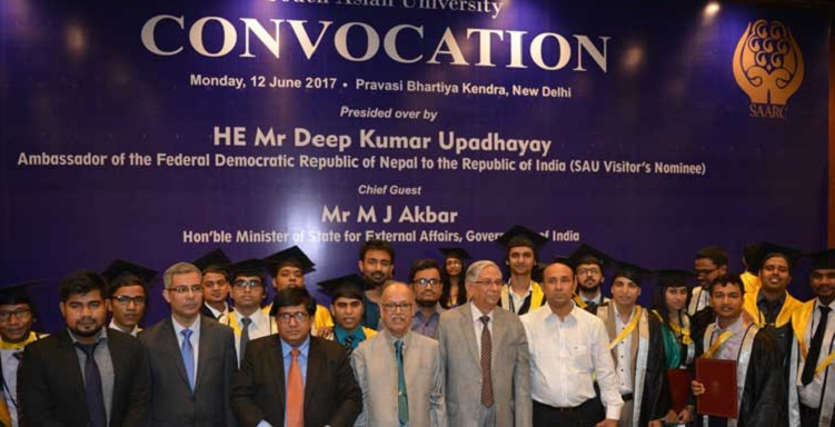 South Asian University holds 2nd convocation ceremony