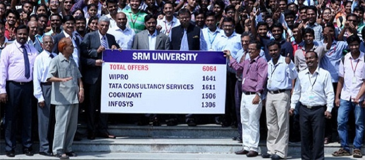 SRM University set new record of placement 6064 in a day