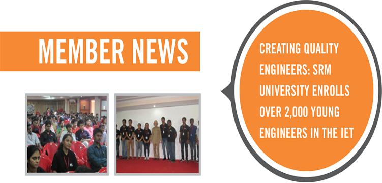 SRM University has the Largest IET Student Member Community