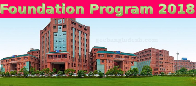 Foundation Program 2018 at Sharda University
