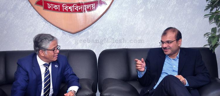 IISc delegation met Dhaka University VC