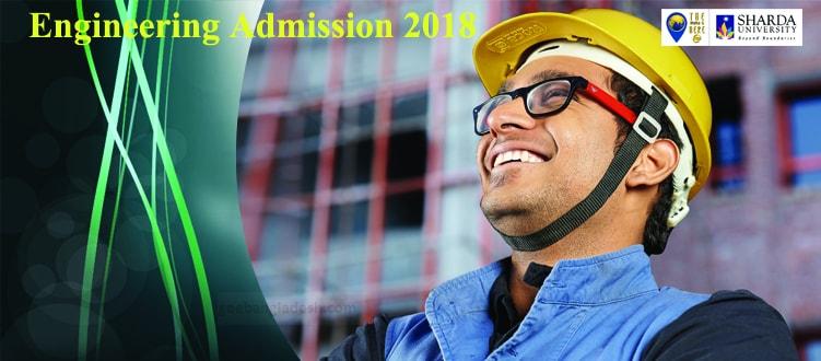 Engineering with scholarship at Sharda University