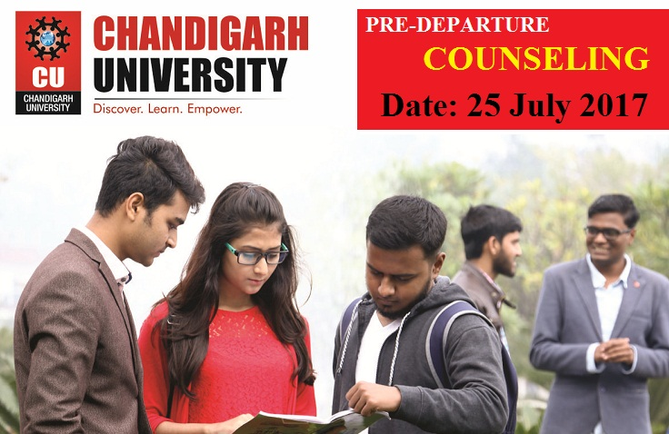 Chandigarh University freshers counseling and reunion on July 25