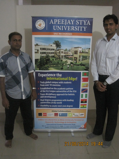 Apeejay Stya University delegation at GEE Banglade