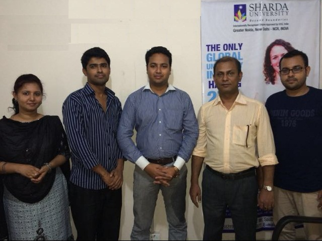 Mr Rakesh Dhenki of Sharda University at GEE Bangl