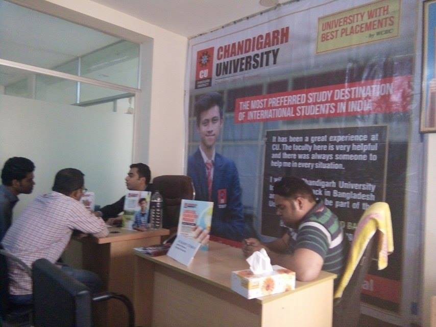 Chandigarh University officers in Bangladesh
