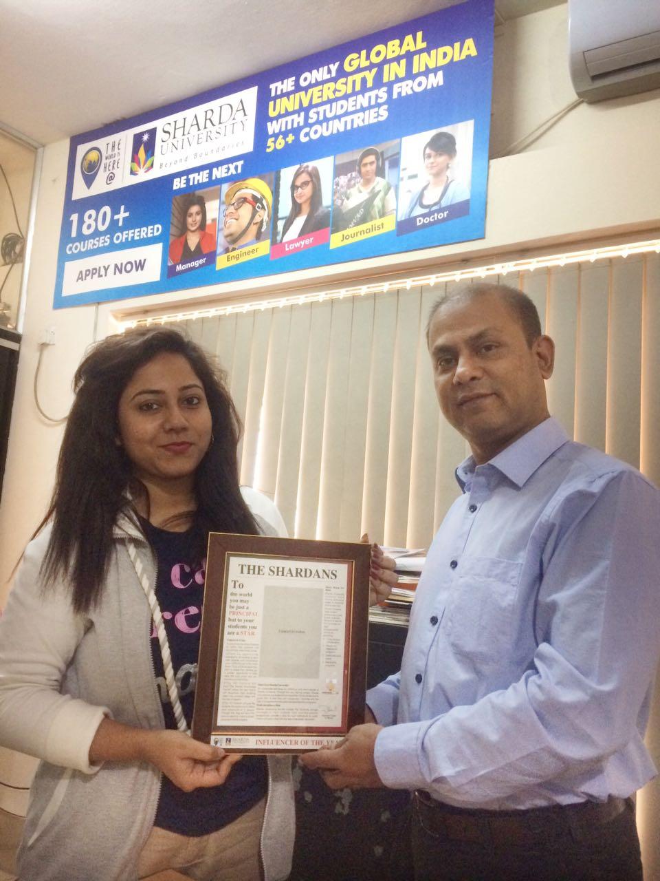 Sharda Alumni meets Regional Coordinator