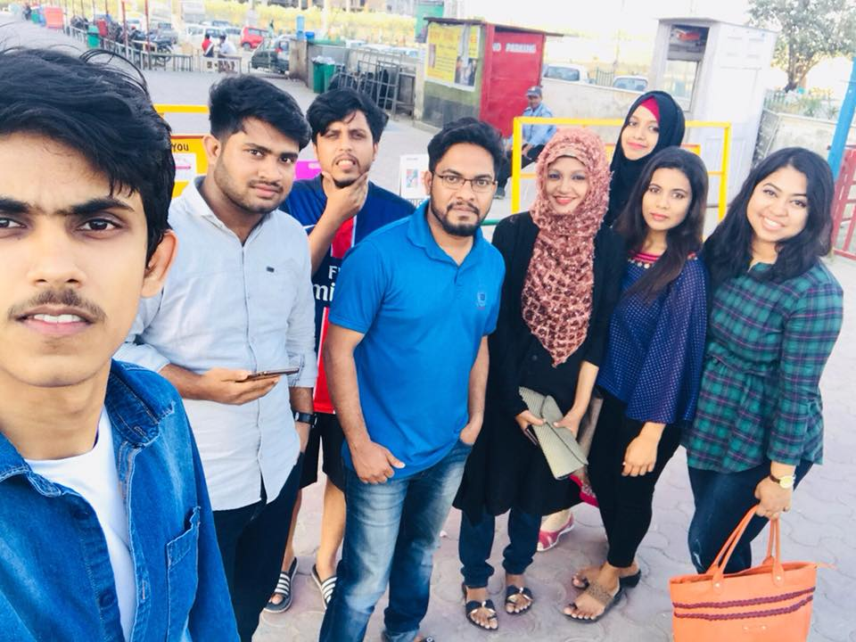 Bangladeshi students at Sharda University