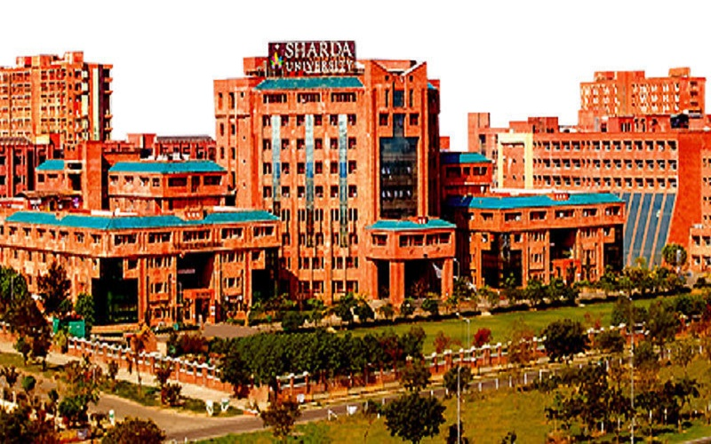 The World is here,Sharda University Campus