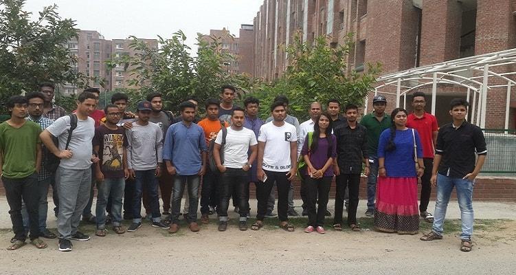 Meeting with Bangladeshi students at Sharda University Campus
